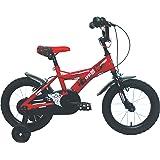 "Umit J1450 Bicicleta Infantil, Niños, Rojo/ Negro, 14"""