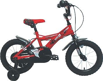 "Umit J1450 Bicicleta Infantil, Niños, Rojo/Negro, 14"""