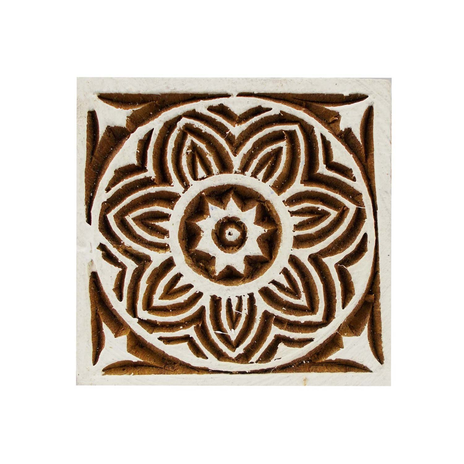 Square Celtic Knot Motif Wooden Printing Block Stamps Textile Print Tattoo Clay Pottery Blocks TeT