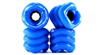 Shark Wheel California Roll 60mm 78A Small Longboard Skateboard Wheels, Blue