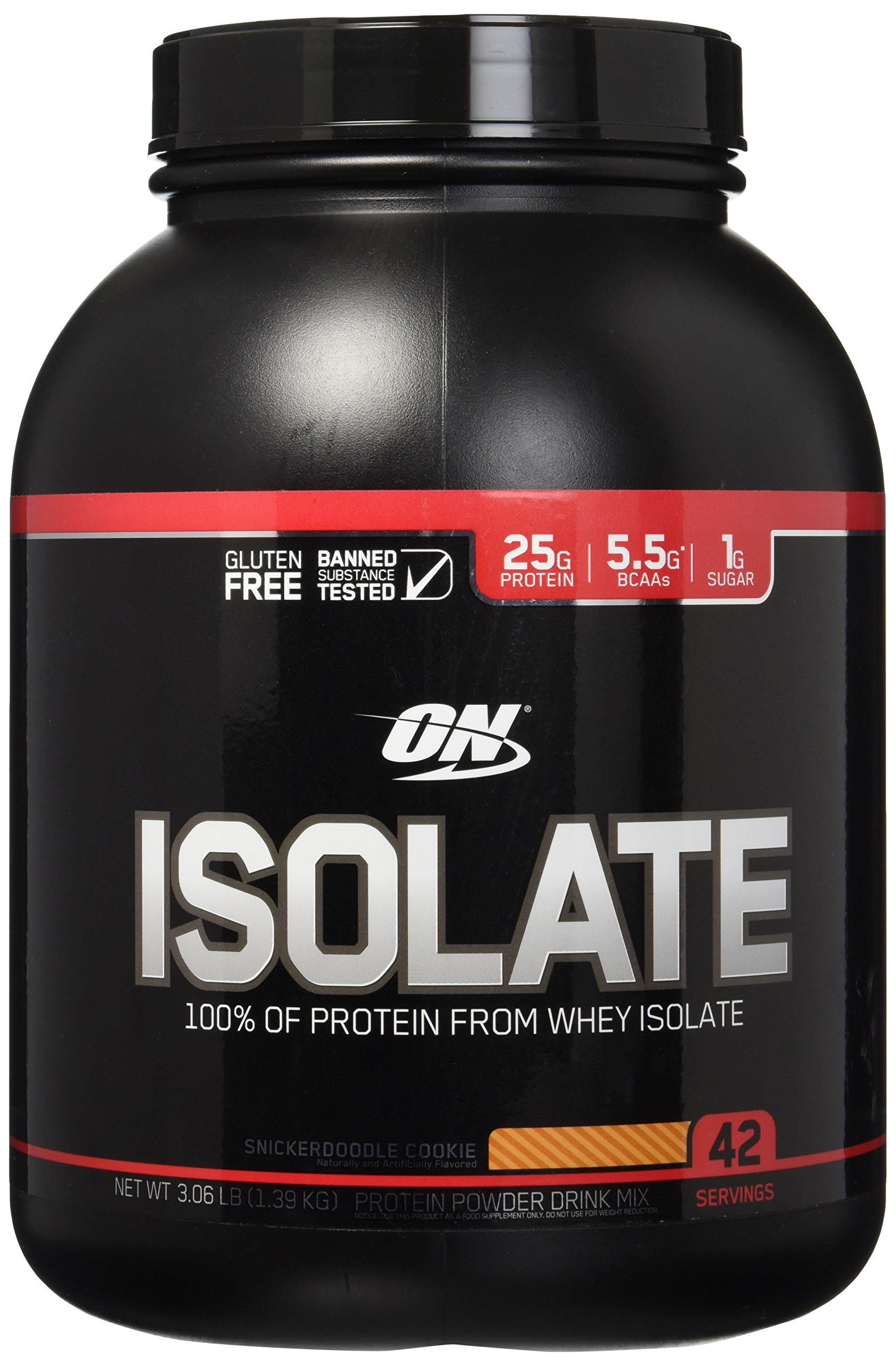 OPTIMUM NUTRITION Isolate, Snickerdoodle Cookie, 3 Pound