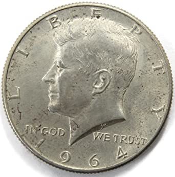 """1964-D Kennedy Half Dollar 90/% SILVER US Mint Coin /""""About Uncirculated/"""""""