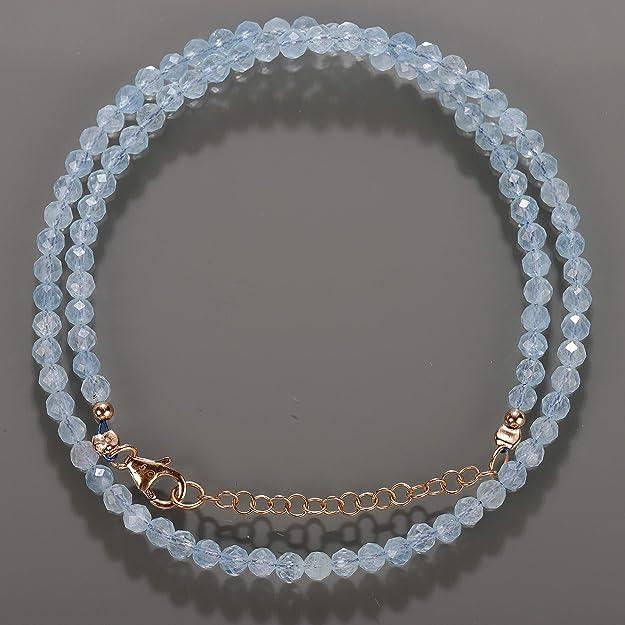145.00 cts naturel forme ronde à facettes Bleu Aquamarine Perles Collier NK 19MK3