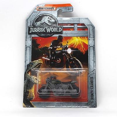 Matchbox Jurassic World '15 Triumph Scrambler: Toys & Games