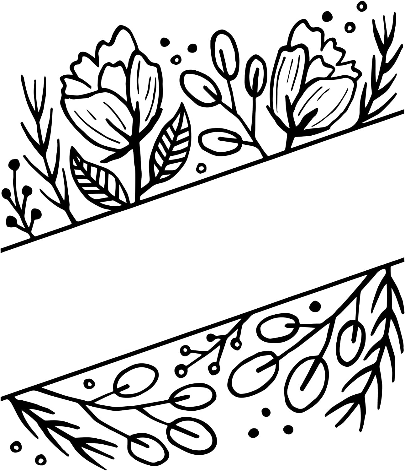 Floral with Blank Space Darice 30041330 Embossing Folder