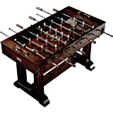 """56"""" Premium Solid Wood Veneer Foosball Soccer Table With Antique Bronze Finish and Steel Rods by Barrington Billiard Company"""