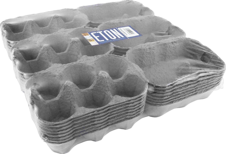 Eton 3x6 Egg Boxes Grey Coloured, 24 x1/2 Dozen, Shrink Wrapped