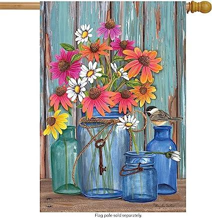 Gifts of Spring Primitive Magnetic Mailbox Cover Floral Mason Jar Standard
