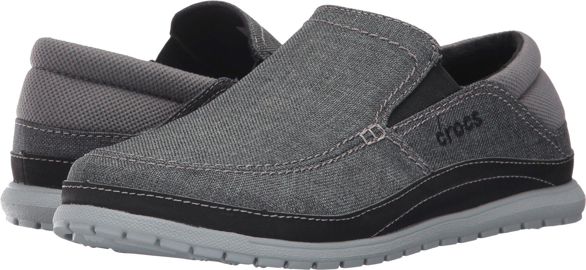 Crocs Men's Santa Cruz Playa Slip-on Loafer,Graphite/Light Grey,11 M US