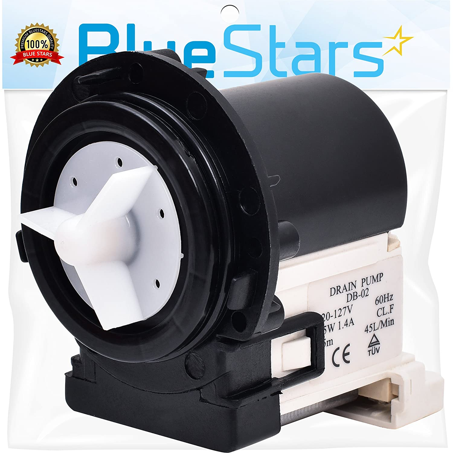 Ultra Durable 4681EA2001T Washer Drain Pump Replacement part by Blue Stars- Exact Fit for LG Kenmore Washer- Replaces 2003273 4681EA1007D 4681EA1007G