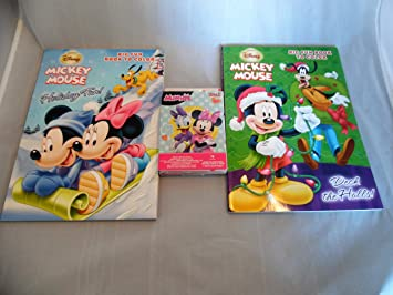Amazon クリスマス ホリデー ミッキーマウス 塗り絵 本 ミニーマウス