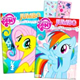 My Little Pony Coloring Book Super Set with Stickers (2 Jumbo Books and Sticker Pack Featuring Rainbow Dash Fluttershy…