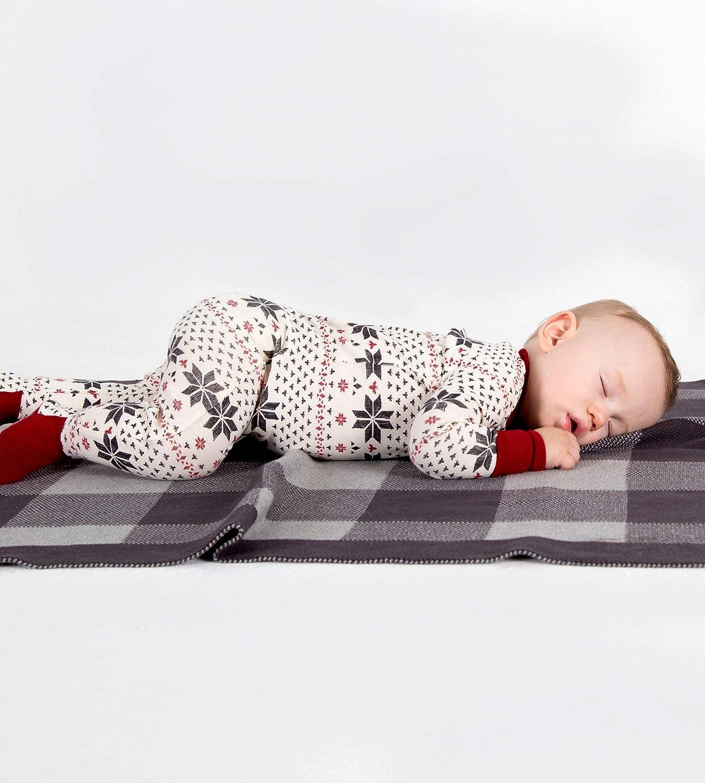 Organic Cotton Zip-Front Non-Slip Footed Sleeper Pjs Burts Bees Baby Baby Boys Unisex Pajamas
