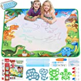 Infinno Aqua Magic Doodle Mat Extra Large Water Drawing Mat Kids Painting Writing Doodle Coloring Mat Educational Toys Gifts for Kids Toddlers Boys Girls Age 2 3 4 5 6 7 8 Year Old