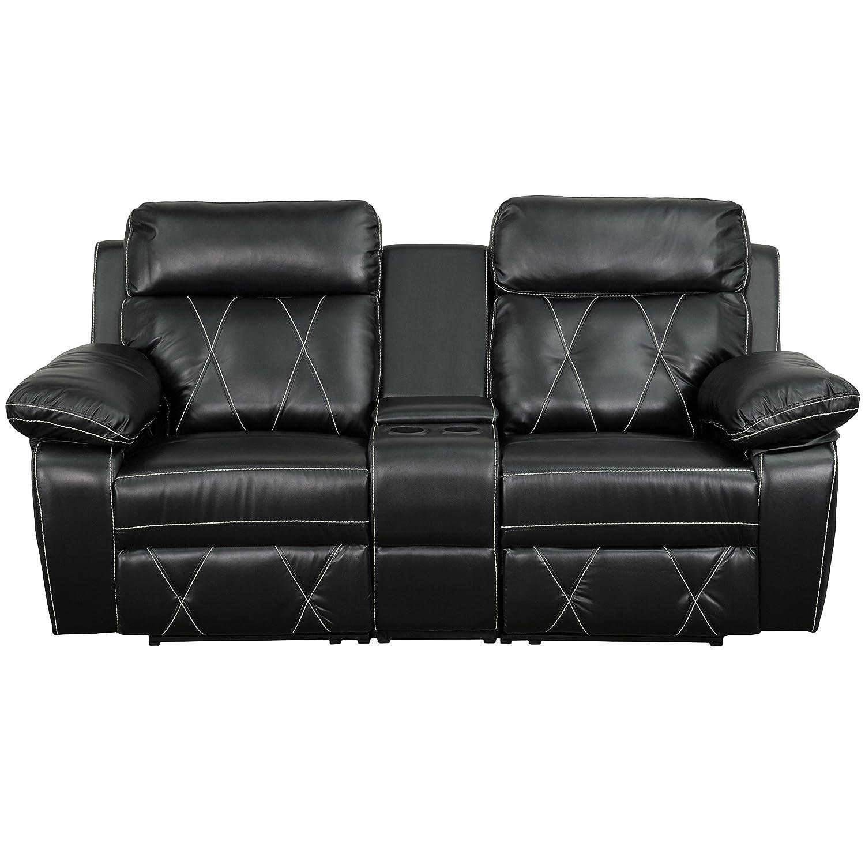 Amazon.com: Flash Furniture Reel Comfort Series 2-Seat Reclining ...