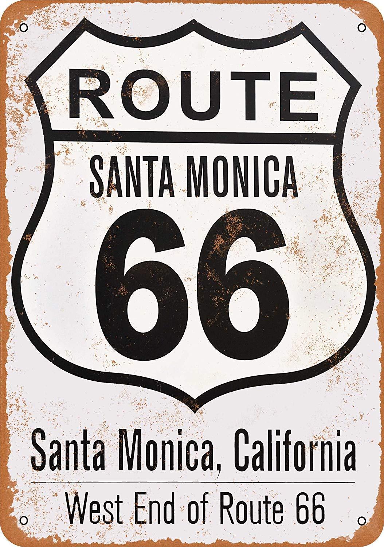 Toddrick Santa Monica Route 66 - Cartel de hojalata de ...