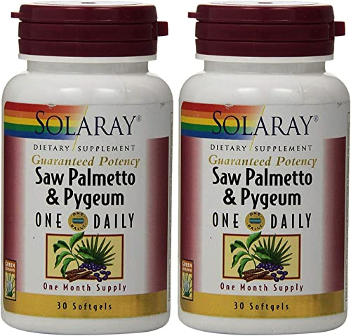 Saw Palmetto and Pygeum One Daily 30 Softgel Pack of 2 Solaray