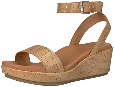 a8793c4c36 Gentle Souls by Kenneth Cole Women's Morrie Platform Wedge Sandal with  Ankle Strap Sandal, natural