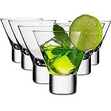 MITBAK 8 - Ounce Martini Glasses (Set of 6) | Elegant cocktail Cups | Great for Martini, Cocktail, Whiskey, Liquor, Margarita