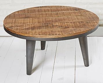 Beistelltisch Couchtisch Wohnzimmertisch Stubentisch Rund 79 Cm Holz