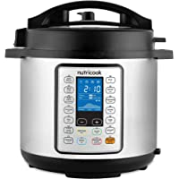 Nutricook Smart Pot Prime by Nutribullet 1200 Watts - 10 in 1 Instant Programmable Electric Pressure Cooker, 8 Liters…