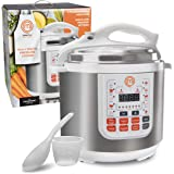 MasterChef 13-in-1 Pressure Cooker- 6 QT Electric Digital Instant MultiPot w 13 Programmable Functions- High and Low Pressure