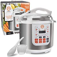 MasterChef 13-in-1 Pressure Cooker- 6 QT Electric Digital Instant MultiPot w 13 Programmable Functions- High and Low…