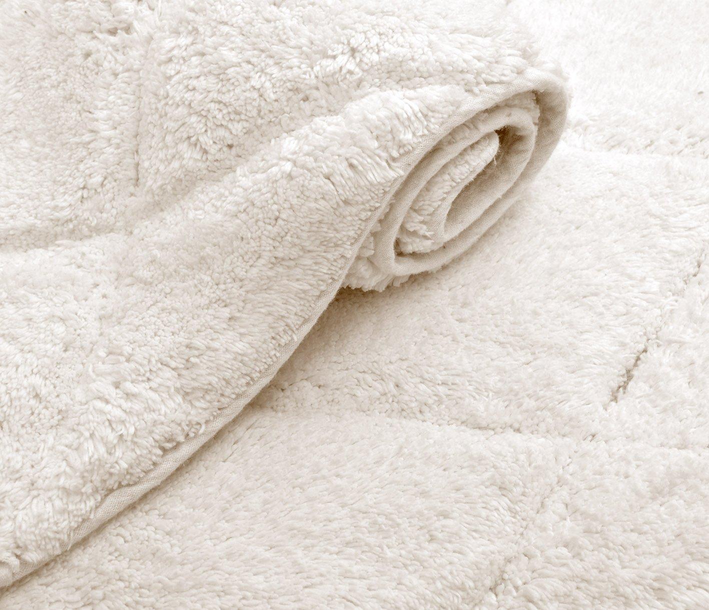 Ivory, Cotton Arena Value Homezz Stock Bath Rugs 21 x 34//17 x 24 Bathroom Mats