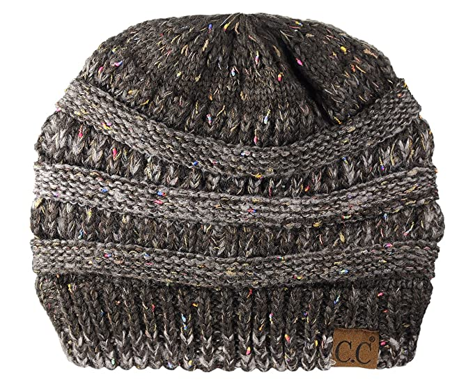 5ff43ce19cf72 Image Unavailable. Image not available for. Colour  C C Unisex Colorful  Confetti Soft Stretch Cable Knit Beanie Skull ...