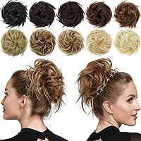 ROSEBUD Messy Bun Hair Piece Scrunchy Bun Extensions Synthetic Tousled Updo Chignon Hairpiece for Women