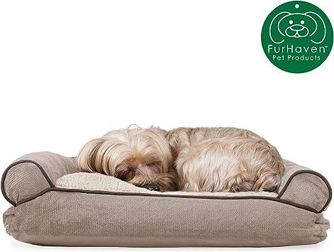 Amazon.com: Furhaven Cama para perro | Cojín de cojín para ...