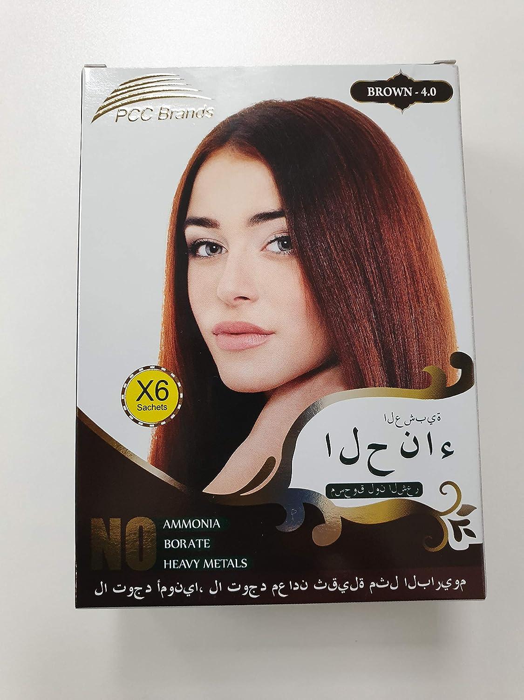 PCC Herbal Henna - Tinte para el pelo (metal), color marrón ...