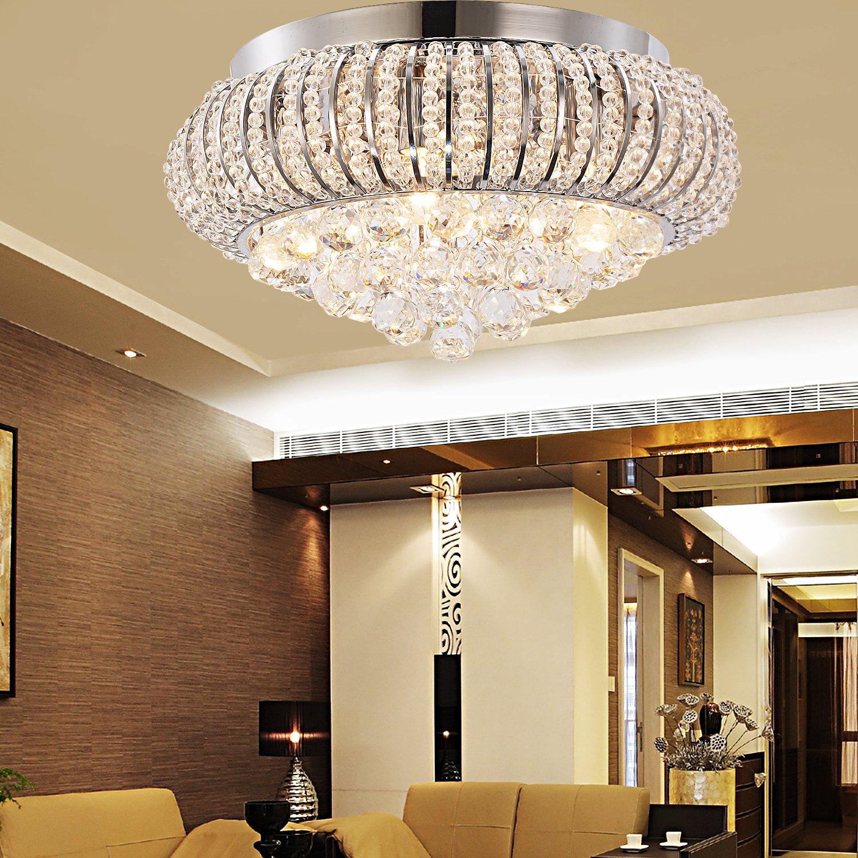 OOFAY LIGHT Lampe en cristal simple et élégante Plafonnier en