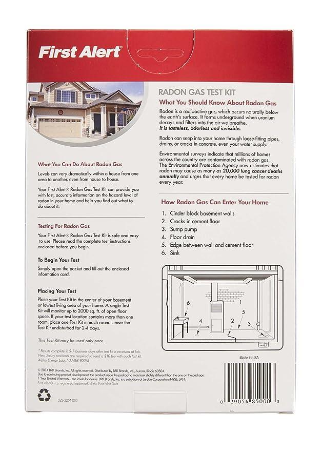 First Alert Rd1 Radon Gas Test Kit Amazon