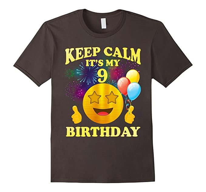 Mens Its My 9th Birthday Shirt 9 Years Old Gift 3XL Asphalt