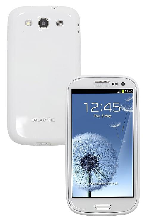 Anymode SAMGSVTPUPWH1 - Carcasa de TPU para Samsung Galaxy S3, color blanco