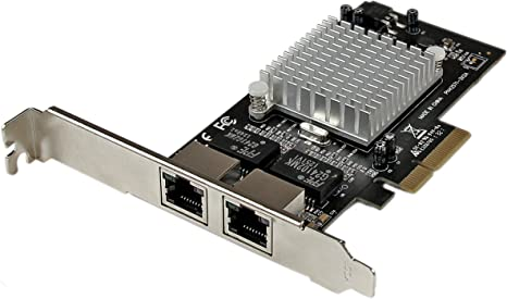 StarTech.com Dual Port PCI Express (PCIe x4) Gigabit Ethernet Server Adapter - 2 Port Network Card - Intel i350 NIC - GbE Network Card (ST2000SPEXI)