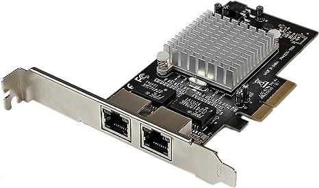 StarTech.com Dual Port PCI Express (PCIe x4) Gigabit Ethernet Server Adapter - 2 Port Network Card - Intel i350 NIC - GbE Network Card (ST2000SPEXI)