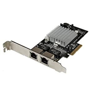 StarTech.com Dual Port PCI Express (PCIe x4) Gigabit Ethernet Server Adapter - 2 Port Network Card - Intel i350 NIC - GbE Network Card