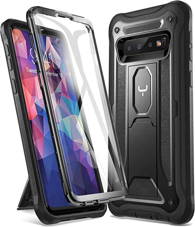 YOUMAKER Coque Samsung S10, S10 Protection Lourde et Antichoc avec Support, Coque S10 avec L'écran Intégré, Adaptée pour Samsung Galaxy S10 6.1 Pouces ...