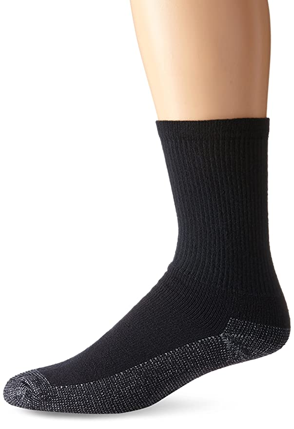 Fruit of the Loom Mens Heavy Duty Reinforced Cushion Crew Socks at Amazon Mens Clothing store:
