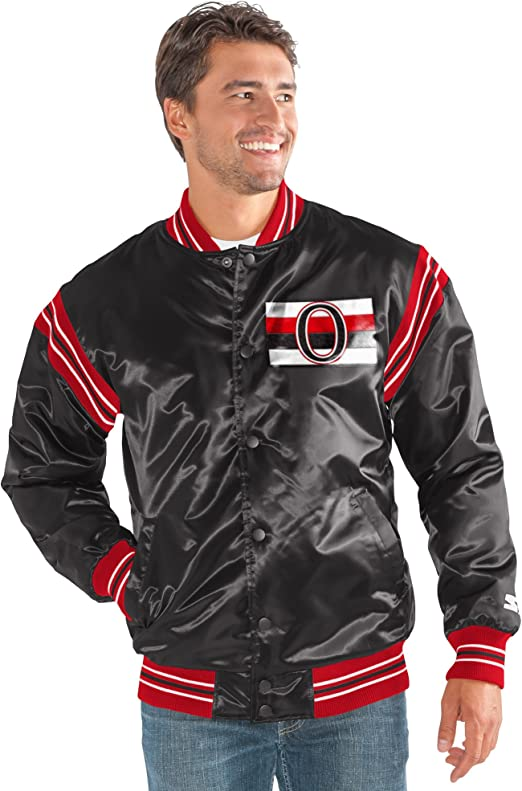 STARTER Adult Men NHL Varsity Bomber Jacket
