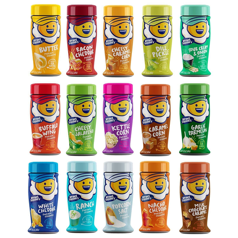 Kernel Seasons Popcorn Flavors Variety Pack of 15 Flavors by Kernel Season's