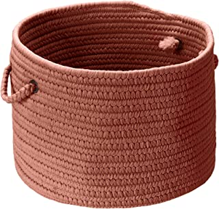 product image for Colonial Mills BR78 14 by 14 by 10-Inch Boca Raton Solid Storage Basket, Terracotta