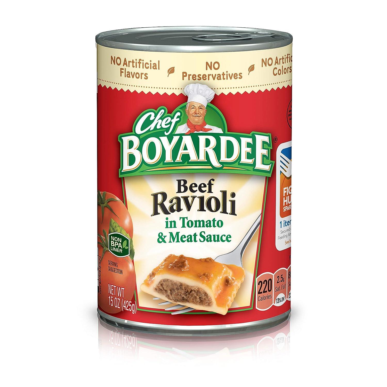 Chef Boyardee Beef Ravioli, 15 oz Cans (Pack of 24)