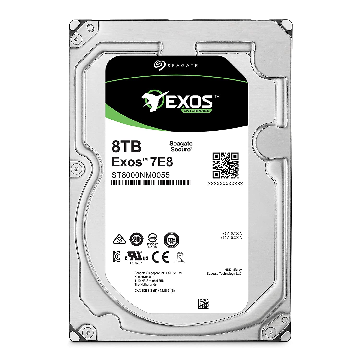 Seagate Exos 7E8 8TB Internal Hard Drive HDD – 3.5 Inch 6Gb/s 7200 RPM 128MB Cache for Enterprise, Data Center – Frustration Free Packaging (ST8000NM0055)