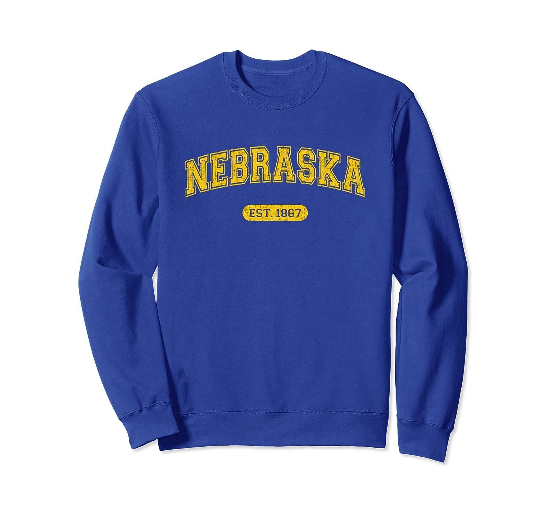 Retro School-style Nebraska 1867 Sweatshirt-alottee gift