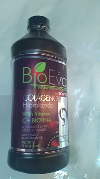 Bio Eva Supplement Nutritional Collagen hydrolyzed With Vitamin C And Biotin Liquid Nails Hair Skin Anti