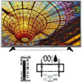 LG 55UH6030 - 55-Inch 4K UHD Smart LED TV w/ webOS 3.0 Tilt Wall Mount Bundle includes TV, Flat & Tilt Wall Mount Ultimate Kit and 6 Outlet Power Strip with Dual USB Ports