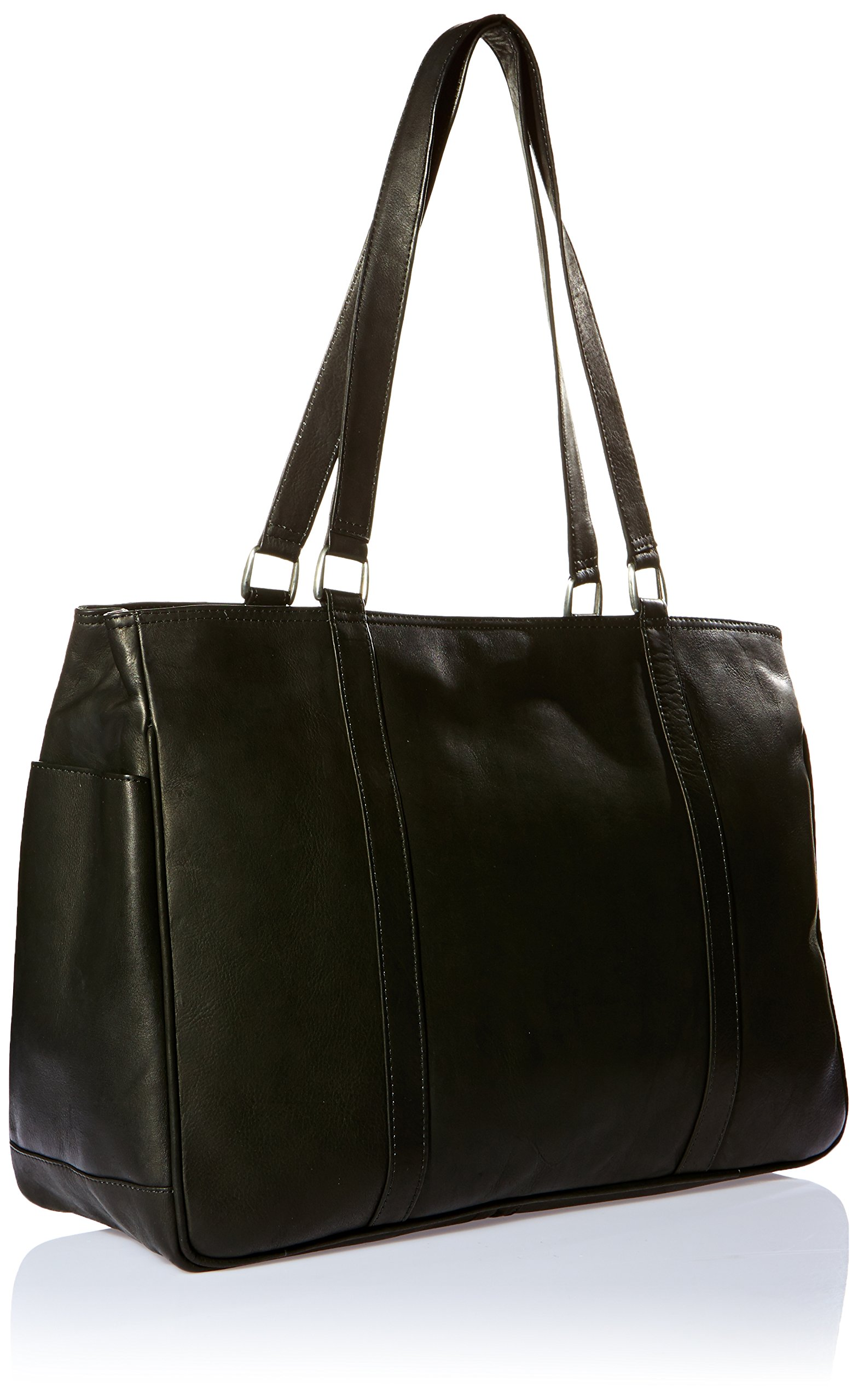 Piel Leather Large Shopping Bag, Black, One Size by Piel Leather (Image #2)